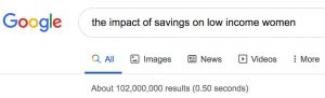 The impact of saving